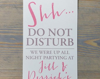 Do not disturb wedding door hangers, door hangers wedding, hotel door hangers, floral door hanger, blush door hanger