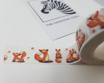 Cute Kawaii Yoga Fox Washi Tape