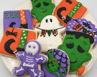 Fall/ Halloween Cookies, Halloween Party Favors, Halloween Party, decorated cookies, Halloween Cookies