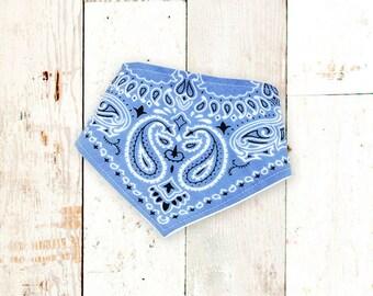 Baby Bibdana (CLASSIC LIGHT BLUE) bandana bib, drool bib, bibdanna, baby bib, baby shower gift, baby bandana, handkerchief bib