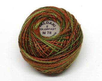 Valdani Pearl Cotton Thread Size 8 Variegated: #M78 Copper Leaf