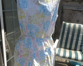 VINTAGE WOMENS 1 pc cotton romper jumpsuit  play suit by Schooners sz med