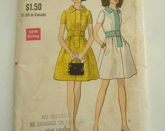 Vogue Pattern 7546, Misses' Dress, Size 12, Bust 34, Uncut