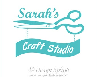 Vinyl Wall Decal PERSONALIZED CRAFT Studio Sign S-115