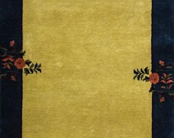 "3'11"" x 5'10"" Charming Art Deco Rug #16896"