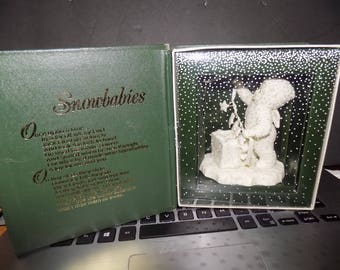 Vintage Department 56 Snowbabies Stringing Fallen Stars Figure In The Box Perfect See Pic