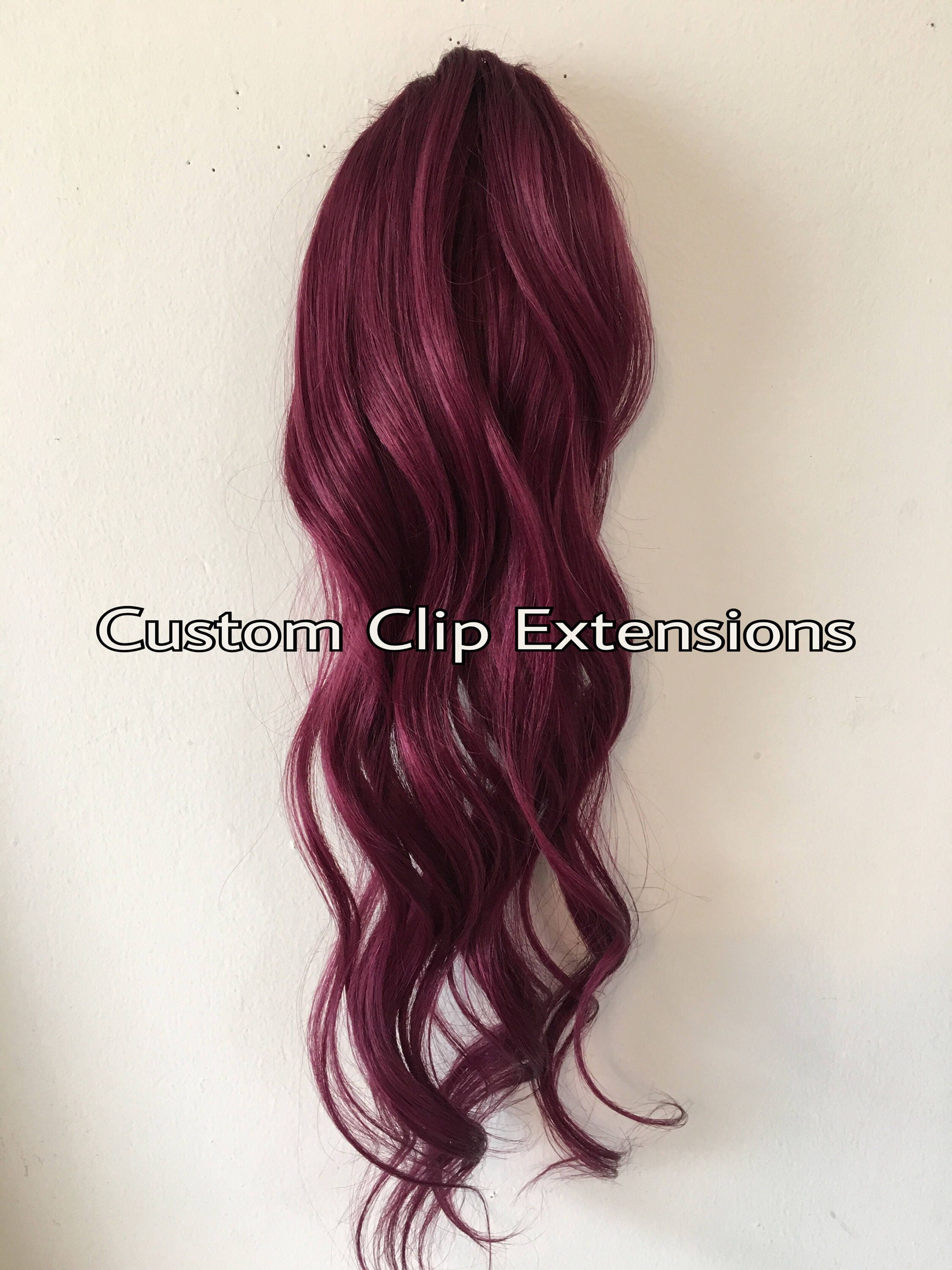 Burgundy Clip In Hair Extensions Human Hair Extensions