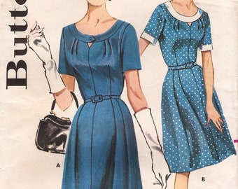 """Butterick 9796 Vintage Retro 1960's Elegant Fitted Day Dress, Sewing Pattern Size 20 Bust 40"""" UNCUT"""