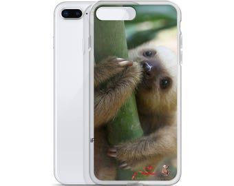 Baby Sloth Hug iPhone Case