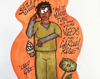 Orange is the New Black Crazy Eyes postcard