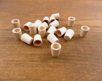 """Wood Glasses Cups 3/8"""" H 5/16"""" Diameter Miniatures - 50"""
