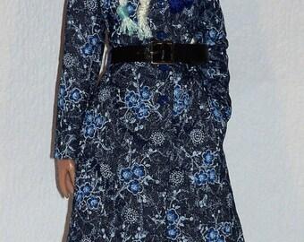 Denim en Fleurs*  Ooak Coat for Ellowyne Wilde, Sybarite and 16' Tonner Dolls by L'Atelier de Rosy