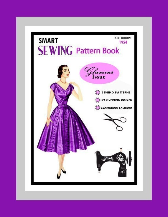 1954 Sewing Pattern Book GLAMOUR Issue Over 100 Fashions to