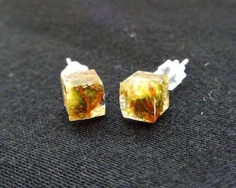 Still Cube Stud Earrings-Weed Earrings-Weed Jewelry-Weed Stud Earrings-Cannabis Earrings-Cannabis Jewelry-Gifts for Stoners-Marijuana