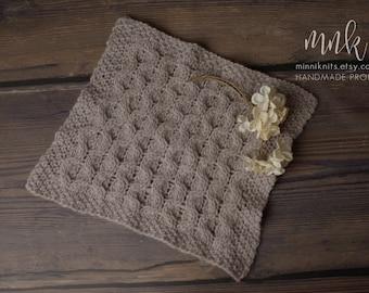 Layer, handknit, blanket, newborn photography, props