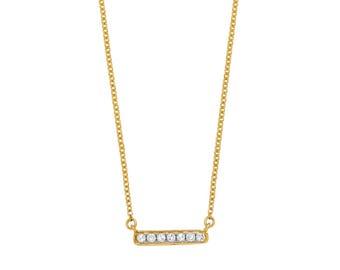 Necklace yellow gold / white 750 # G18K, diamonds 0 05ct, 42cm