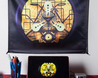 LIGHT WIZARD - Wall Hanging - Loophole - Tapestry - Banner - Visionary Art - Photograph - Sublimation -Print - Spiritual - Art -Psy