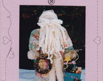 FREE US SHIP Craft Sewing Pattern Christmas Sweet Stitches Country Claus Santa Doll 107 1993 Primitive  Folk Art Like new
