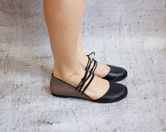 FLORIAN - Black - FREE SHIPPING Handmade Leather Shoes with Summer Sale Price