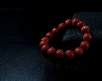 Jarrah Wood Beaded Bracelet
