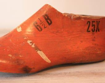 Stuart Wooden Shoe Form / Vintage Shoe Form / Industrial Decor