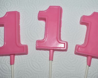 First birthday edible lollipop chocolate favors
