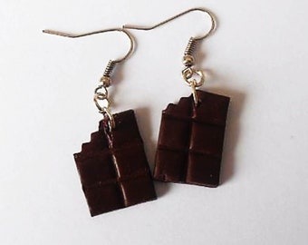 biscuit chocolate fimo Stud Earrings