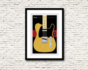 Guitars Signature Series Poster 3 Fender Telecaster The Rolling Stones