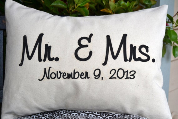Unique Wedding Gifts For Second Marriage: Personalized Newlywed Pillow Wedding Gift 2nd Anniversary