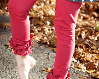 Instant Download Greenstyle Lucy Ruffle Leggings with Multiple Hem Options PDF Sewing Pattern for Girls Size 18 months Through 12 years