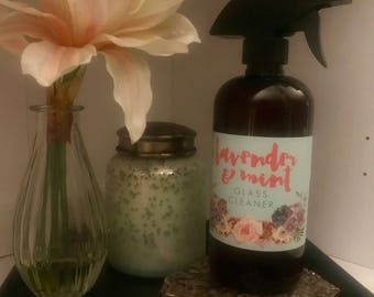 Lavender & Mint GLASS CLEANER • All-Natural, Organic, made w/ doTERRA Essential Oils