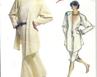 80s Vogue Individualist 1820 Designer Adri Misses' Jacket, Skirt and Top Sewing Pattern UNCUT