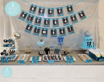 Aqua Disco Party Printable Decorations / Dance Party