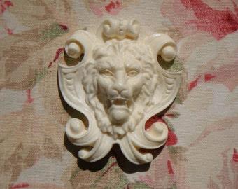 LION SHIELD APPLIQUE Architectural Furniture Applique Onlay Mount