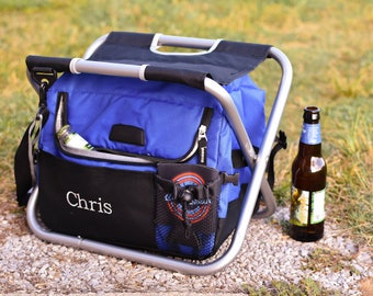 Personalized Insulated Cooler Chair for Groomsmen, Personalized Beer Cooler for Men,  Best Man and Groomsman Gift