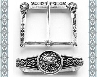 Schnallenset Templar belt buckle belt strap buckle keeper Belt Beltbuckle