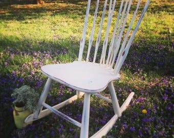 Shabby Chic Kid's Rocking Chair