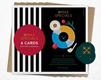 Xmas Specials   Funny Christmas card   Holiday card   Giclee print   Card bundle