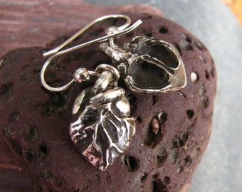 Anatomical Heart Jewelry Earrings in Sterling Silver