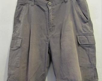 Mannen Vintage 90 is, verschoten grijze CARGO Shorts door ROK.34