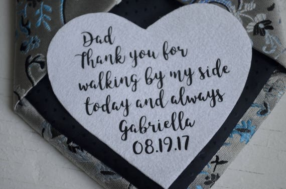 Father Daughter Wedding Gifts: Wedding Gifts For Dad Tie Patch Birthday Gift From Daughter