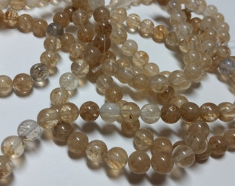 Mixed Color Rutilated Quartz Smooth Ball Beads 7mm - 8mm