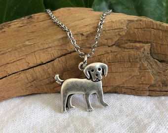 Labrador Retriever Dog Necklace - Lab Puppy Dog Breed Jewelry - Gift for Dog Lover