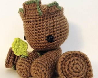 Groot Ready To Ship Crochet Doll