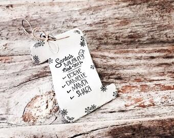 Santa Naughty List / Christmas Humor / Gag Gifts / Best Friend Ornament / Naughty Ornaments / Naughty List / Best Friend Gift / Gift for Her