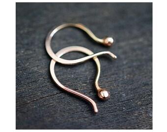 Rose Gold 14k Tiny Tear earrings