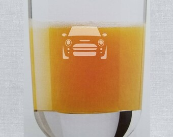 Etched MINI 'on the ROCKS' Glass