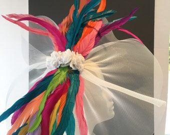 Fascinator for Derby- Womens Fascinator- Luncheon Hat- Derby NYC- Derby Days- Wedding- Kentucky Derby- Mad HatterTea Party -Horse Racing