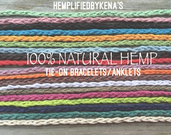 HEMP TIE-ON Bracelets/Anklets