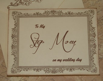 To My Step Mom on my Wedding Day Card, Step Mother Card, Step Mom of the Bride Card